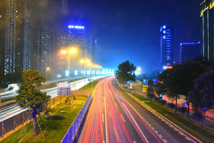 Downtown Chengdu City, Sichuan  China Royalty Free Stock Image