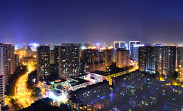 Downtown Chengdu City, Sichuan  China Royalty Free Stock Photo
