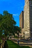 Downtown Chicago. View of South Michigan Avenue around Grant Park Stock Photo