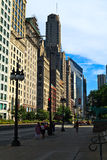 Downtown Chicago. View of South Michigan Avenue around Grant Park Royalty Free Stock Photo