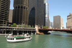 Downtown Chicago. Waterfront, Illionois USA royalty free stock photography