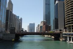 Downtown Chicago. Waterfront in Illinois, USA royalty free stock photography