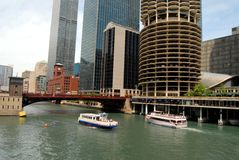 Downtown Chicago. Waterfront in Illinois, United States royalty free stock images