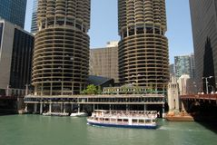 Downtown Chicago. Waterfront in Illinois, United States stock photo