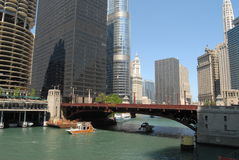 Downtown Chicago. Waterfront in Illinois, USA stock photography