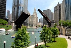 Downtown Chicago. Waterfront in Illinois, USA royalty free stock photo
