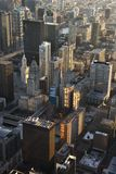 Downtown Chicago. Aerial view of buildings in downtown Chicago, Illinois Royalty Free Stock Photography