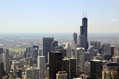 Downtown Chicago. Chicago, Illinois - view from John Hancock Building stock images