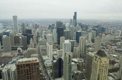 Downtown Chicago from 92 stories - horizontal Royalty Free Stock Images