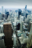 Downtown Chicago from 92 stories - vertical Stock Image
