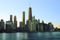 Downtown Chicago Across Lake Michigan Royalty Free Stock Images