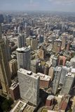 Downtown Chicago aerial view stock images