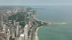 Downtown Chicago aerial view stock footage