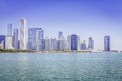 Downtown of Chicago royalty free stock image