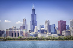 Downtown of Chicago stock photos