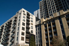 Downtown Chicago Apartment Buildings Royalty Free Stock Photography