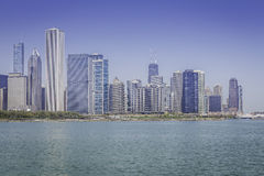 Downtown of Chicago stock photography