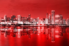 Downtown Chicago at December Stock Image