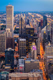 Downtown Chicago. Dusk in Downtown Chicago, Illinois Stock Photos