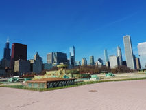 Downtown Chicago from Grant Park Stock Photography