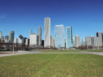 Downtown Chicago from Grat Park Stock Photos