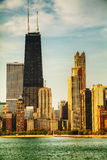 Downtown Chicago, IL in the morning Royalty Free Stock Images