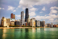 Downtown Chicago, IL in the morning Royalty Free Stock Photography