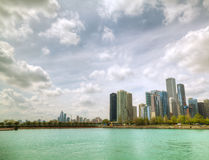 Downtown Chicago, IL in the sunny day Royalty Free Stock Image