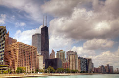 Downtown Chicago, IL in the sunny day Royalty Free Stock Photo