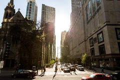 The downtown of Chicago in Illinois, USA Stock Images
