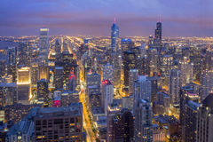 Downtown Chicago from John Hancock Tower Royalty Free Stock Photo