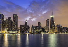 Downtown of Chicago Magnificent Mile Royalty Free Stock Photo