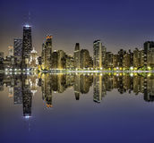 Downtown Chicago Magnificent Mile Royalty Free Stock Images
