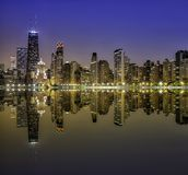 Downtown Chicago Magnificent Mile Royalty Free Stock Photo