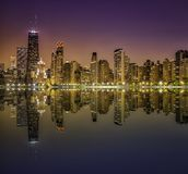 Downtown Chicago Magnificent Mile Royalty Free Stock Photography