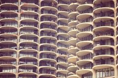Downtown Chicago Marina City CornCob Sky Scrapers Royalty Free Stock Images