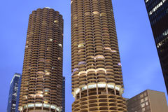 Downtown Chicago - Marina Towers. In the evening Stock Image