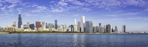 Downtown of Chicago morning panorama Royalty Free Stock Photography