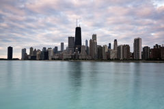 Downtown Chicago morning time royalty free stock photo