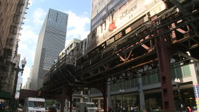 Downtown Chicago (4 of 4). Chicago's elevated train system.  Similar to other cities subway system stock video