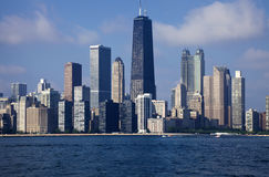 Downtown Chicago Seen From The Lake Stock Images