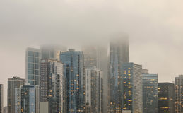 Free Downtown Chicago Skyline Covered In Fog Royalty Free Stock Photo - 98314135