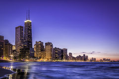 Downtown Chicago skyline Royalty Free Stock Photos