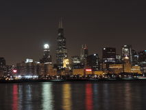 Downtown Chicago skyline at dusk Stock Image