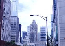 Downtown Chicago street Royalty Free Stock Image