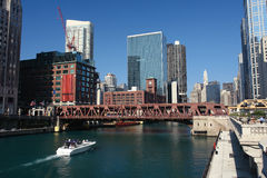 Downtown Chicago at sunny day Royalty Free Stock Images