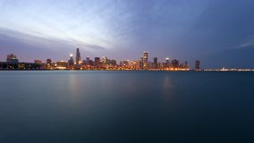 Downtown Chicago before sunset Royalty Free Stock Photography