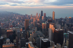 Downtown Chicago at sunset. Royalty Free Stock Photo