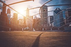 Downtown Chicago Sunset. Chicago, Illinois Millennium Park. United States Stock Photos
