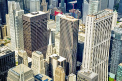 Downtown Chicago tall buildings Royalty Free Stock Photo